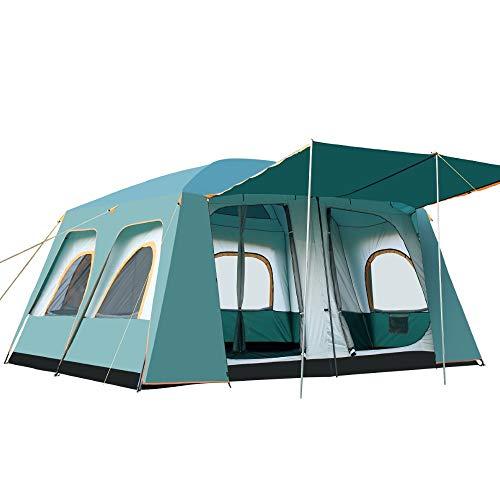 JOMSK Mochila Carpa 8-12 Familia Tienda de 2 Salón de Fiestas al Aire Libre Que acampa yendo de la Mochila Impermeable y Durable Carpa Familiar (Color : Green, Size : One Size)