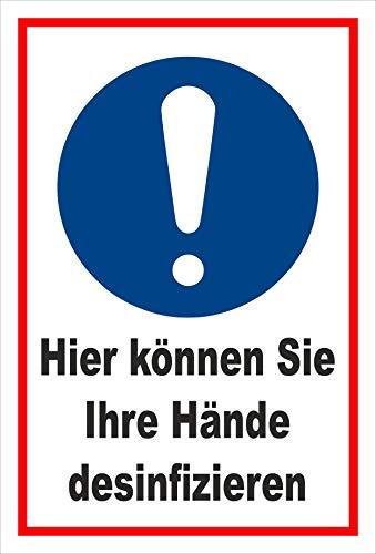 Melis Folienwerkstatt Aufkleber Hände desinfizieren - 30x20cm – 20 VAR S00225-035-B