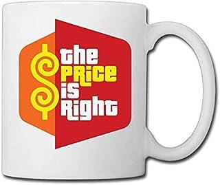 Xarchy Le prix est juste Game Show Coffee Mug 11 OZ blanc en céramique tasse de thé idée unique présente pour hommes femme...