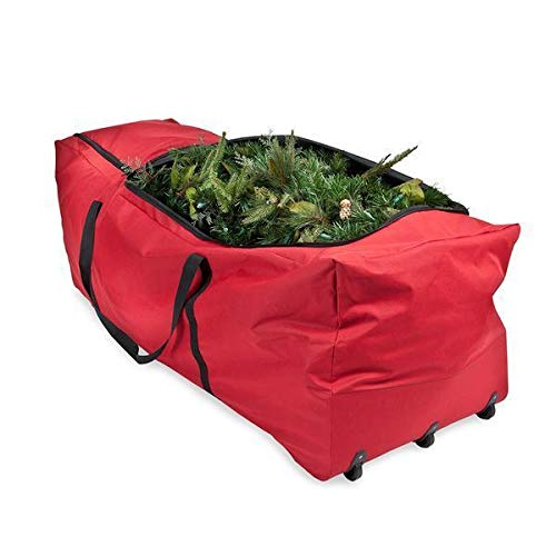 Large Heavy Duty Christmas Tree Storage Bag With Wheels Fits Tree Upto 2.7 Metres / 9 Foot