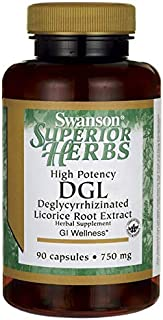 Swanson High Potency Dgl (Licorice) 750 Milligrams 90 Capsules