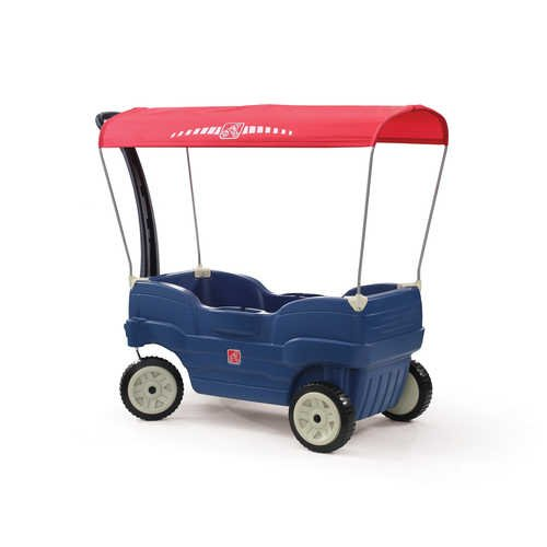 Step2  Canopy Cruise Wagon, Blue/Red
