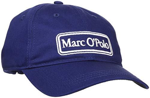 Marc O'Polo Herren 828836401046 Baseball Cap, Blau (Estate Blue 876), One Size (Herstellergröße: OSO)