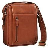 STILORD 'Irving' Vintage Leder Tasche Braun klein Umhängetasche für 10,1 Zoll und iPad Tablettasche DIN A5 Handtasche Messenger Bag Echtleder, Farbe:Cognac - braun
