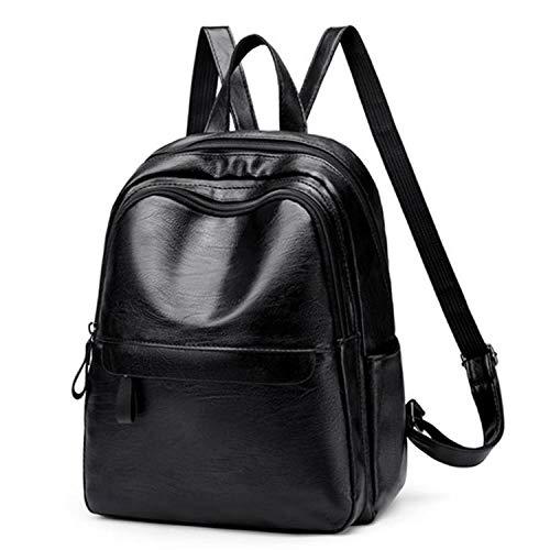 youwu backpack Zaino da donna Zaino da donna Borse da scuola in nylon impermeabile Borse da spalla antifurto Daypack-black_32 pollici