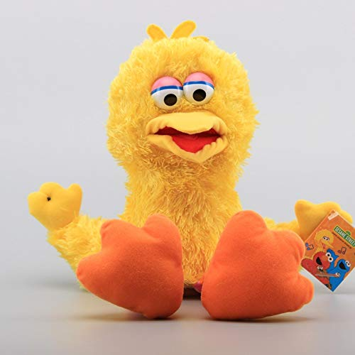 QWEI Sesame Sterrt Muppet Dolls Big Bird Felpa Marioneta De Mano Encantadores Juguetes De Peluche Regalo para Niños 42Cm