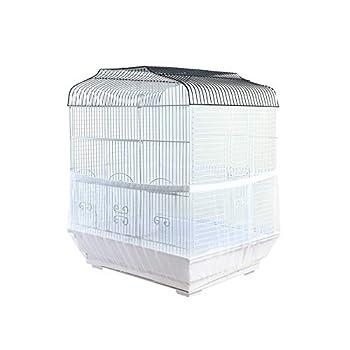 ZZM Housse de protection pour cage à oiseaux, perroquet, filet de protection extensible pour cage à oiseaux
