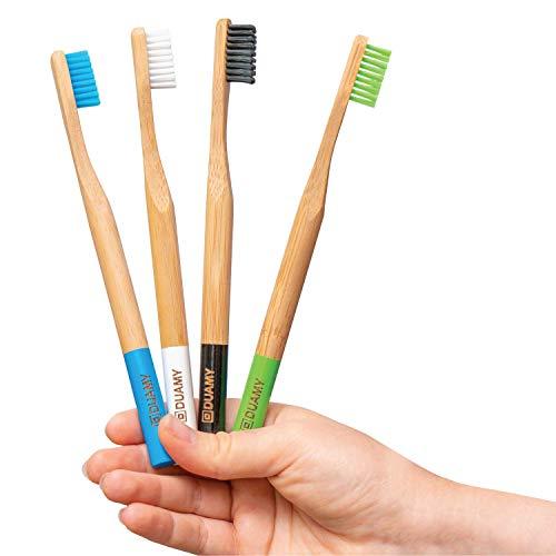 Cepillos de dientes Bambu blandos. Cepillos Ecológicos, 100{ae45b5d8cc74af500573347ad1863e44124a059c4ffe3044d38fce7885657efc} Orgánicos, Biodegradables, Naturales y suaves