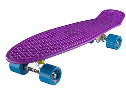 Ridge Skateboard Big Brother Nickel 69 cm Mini Cruiser, lila/blau
