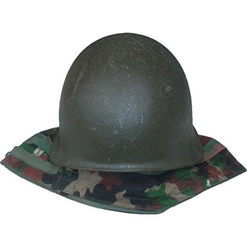 Schweizer Armee Stahlhelm Armeehelm Helm M71 mit alpentarn Bezug