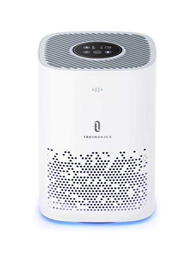 TaoTronics Air Purifier for Home, H13 Cleaner HEPA, CADR 150m³/h Desktop Filtration for Bedroom Kid's Room Office, 3 Fan Speeds Purification for Pet Dander Dust Pollen,Sleep Mode, White