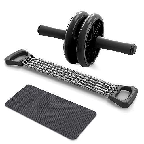 ZEH Bauchtrainer-Rad-3-IN-1 Selbstorganisation Chest Pull Übung Arm Expander Pull Bar Gewicht Exerciser Ausrüstung FACAI (Color : Black)