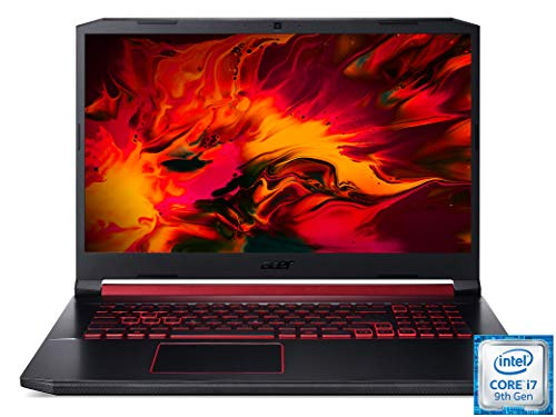 Acer Nitro 5 (AN517-51-7887) 43,9 cm (17,3 Zoll Full-HD IPS) Gaming Laptop (Intel Core i7-9750H, 16 GB RAM, 512 GB PCIe SSD + 1.000 GB HDD, NVIDIA GeForce GTX 1660Ti, Win 10 Home) schwarz/rot