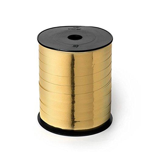 Rotolo Nastrino Oro Lucido Splendid Reflex Regali Natale - 10 mm x 250 m, 1 Pezzo