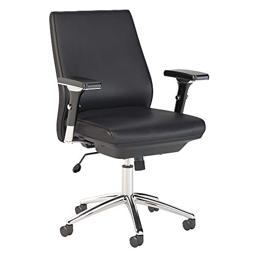 Bush Business Furniture Metropolis High Back Leather Executive Office Chair in Black Black (Mid Black) Error: #N/A