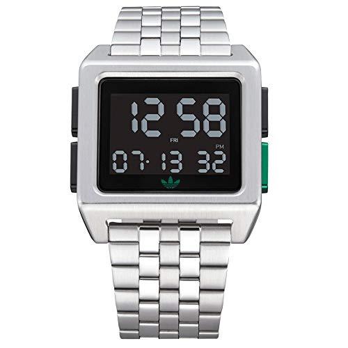 Adidas archive_m1 orologio Uomo Digitale con cinturino in Acciaio INOX...