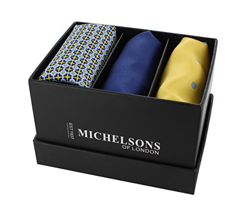 Michelsons of London - Mouchoir - Homme Bleu bleu Taille Unique