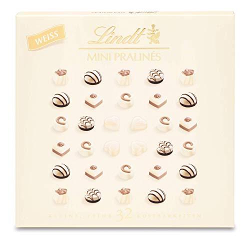Lindt Mini Pralinés Weiß, Weiße Schokolade, 32 Pralinen, kleines Schokoladengeschenk, 160 g