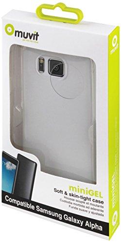 Muvit MUSKI0396 - Funda minigel para Samsung Galaxy Alpha, transparente