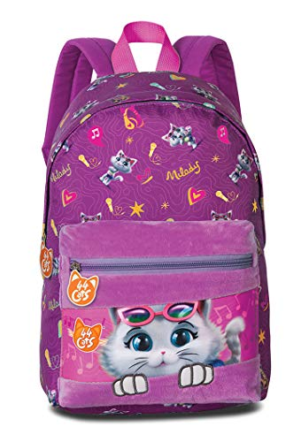 Fabrizio Kinderrugzak 44 Cats Fluffy Roze