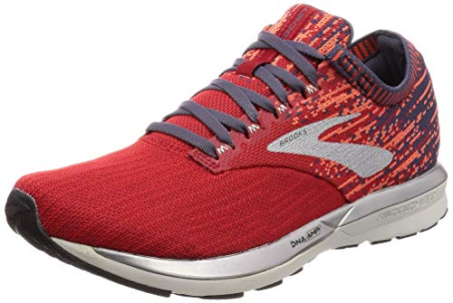 Brooks Herren Ricochet Laufschuhe, Rot (Red/Orange/Grey 636), 44.5 EU