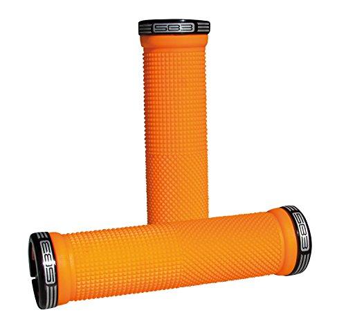 SB3 KHEOPS - Coppia di manopole per Bicicletta, Unisex, per Adulti, Colore: Arancione Neon
