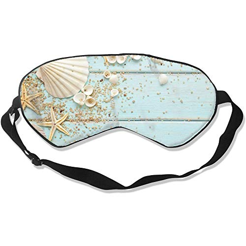 Sea Shells Starfish Eye Shade Cover Soft Smooth Eyes Mask Blocs réglables Light Bandeau pour les yeux