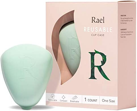 Rael Reusable Case for Cups BPA Free Container for Menstrual Cups Easy to Clean Dry Made in product image