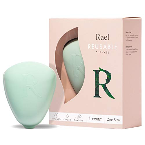 Rael Wiederverwendbare Hülle für Tassen – BPA-freier Behälter für Menstruationstassen, leicht zu reinigen und zu trocknen, hergestellt in den USA, Aufbewahrung von Rael Cup (alle Größen)