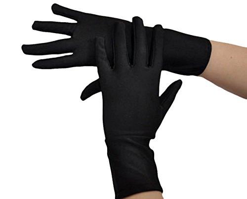 Seeksmile Adult Lycra Spandex Gloves (Free Size, Black)