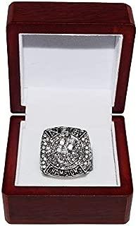 SAN ANTONIO SPURS (Tim Duncan) 2007 NBA FINALS WORLD CHAMPIONS (4-0 Vs. Cavs) Rare Collectible High-Quality Replica NBA Basketball Silver Championship Ring with Cherrywood Display Box