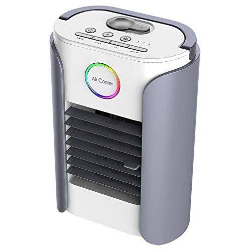 Mini Aire Acondicionado Enfriador De Aire Acondicionador De Aire Portátil Multifunción Usb Acondicionador Ventilador Humidificador Refrigeración Por Aire Refrigerador De Altavoz De Dientes Azules Para