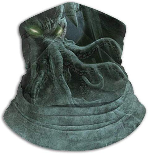 JKHHW Cthulhu Monster Fantasy Art Unisex Nackenwärmer Gamasche Sturmhaube Ski Maske Kaltes Wetter Gesichtsmaske Winter Hüte Kopfbedeckungen für Männer Frauen