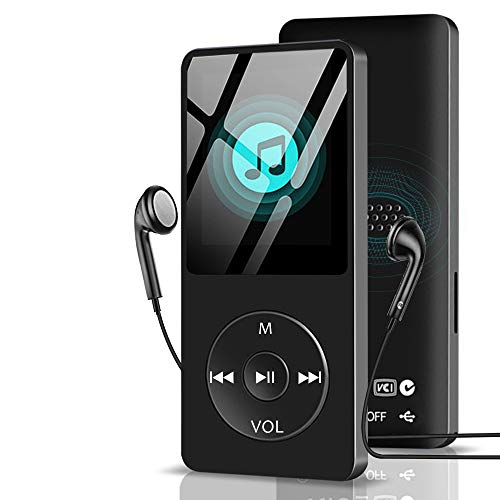 Aigital MP3 Player 8 GB with Speaker, Portable HiFi Lossless Sound MP3 Music Player for Kids Multi-Functional Digital Media Player with FM Radio/E-Book,Support Up to 128GB (Include Earphones)