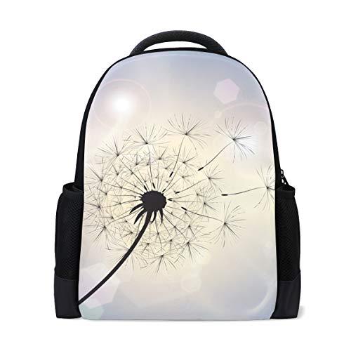 Schulrucksack, Pusteblume im Sommerbrise, College-Schultertaschen, Schulbücher, Laptoprucksack für Jungen und Mädchen