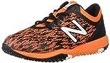 New Balance Men's 4040 V5 Turf Baseball Shoe, Black/Orange, 5 M US