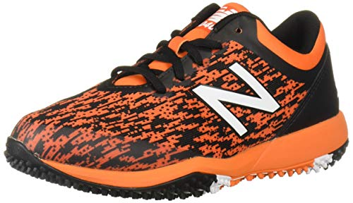 New Balance Men's 4040 V5 Turf Baseball Shoe, Black/Orange, 11.5 W US