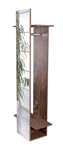 Schildmeyer Brisbane 132967 Spiegelregal, melaminharzbeschichtete Spanplatte, panamaeiche, 34,1 x 30,6 x 175,1 cm