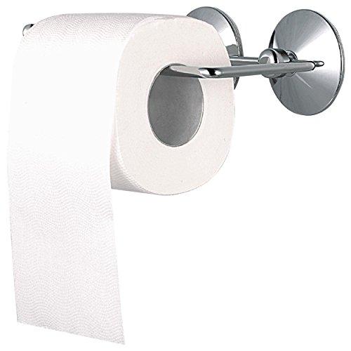 MSV pañuelos de Papel portarrollos de Papel higiénico con Ventosa de Fuerte succión Almohadillas, Plateado
