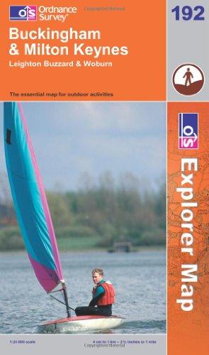 OS Explorer map 192 : Buckingham & Milton Keynes