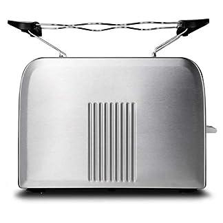 MEDION-MD-16232-Edelstahl-Toaster-870-Watt-Aufwaerm-Auftau-und-Stopptaste-Braeunungsgrad-Regler-Edelstahlgehaeuse-silber