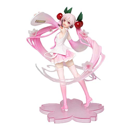 MENGYUE Anime Figure Caractère Collection Jouet,18 Cm Anime Miku Hatsune Rose Sakura Fantôme Miku PVC Figurines d'action Filles Modèle Jouets Collecte des Cadeaux pour Les Filles