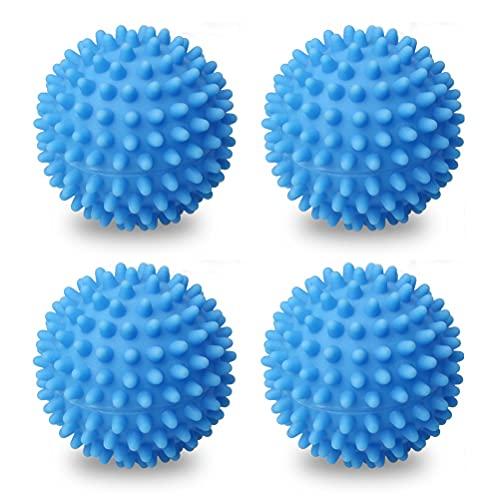 Lot de 4 Balles de Séchage, Accélère Le séchage Réutilisable Balle de Sèche Balle De Sèche-Linge pour Machine à Laver