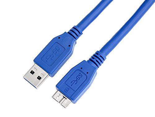 KnnX 28104 | Cable USB 3.0 | Longitud: 5m | A Macho a Micro-B | Carga, Sincronización y Transferencia de Datos | Conexión súper rápida