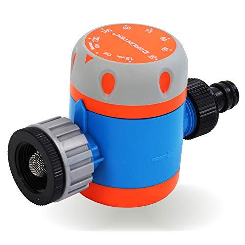 GRÜNTEK Mechanische Bewässerungsuhr für den Wasserhahn, Zeitschaltuhr zur einfachen automatischen Bewässerungssteuerung von 15 Min. bis 120 Min.