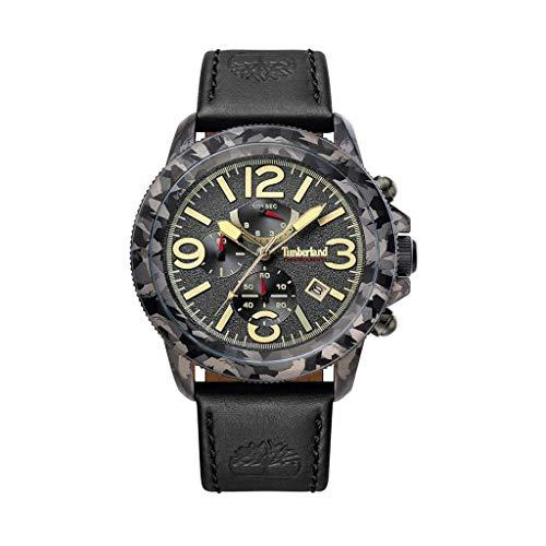 Timberland Reloj Analógico para Unisex Adultos de Cuarzo con Correa en Cuero TBL15474JSGY.61