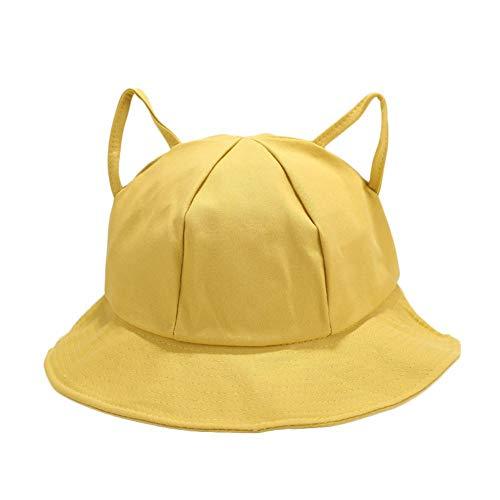 Demarkt Sombrero de pescador unisex, plegable, para verano, tiempo libre, de doble cara amarillo 56/58