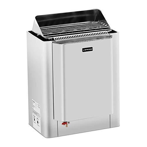 Uniprodo UNI_SAUNA_11.5KW Saunaofen 11,5 kW mit Wasserverdampfer 30 bis 110 °C Edelstahl 9 bis 13 m³ Saunaofen elektro Saunaheizung Überhitzungsschutz