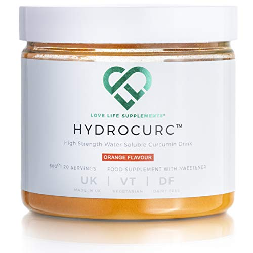 HydroCurc - Water Dispersable Curcumin Drink by LLS | Orange Flavour | 60 Grams - 20 Servings | Love Life Supplements - 'Clean, Effective, High Quality'