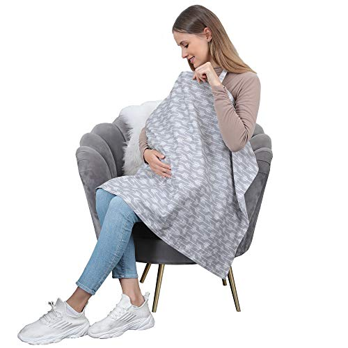 100% Cotton Nursing Breastfeeding Cover  Multiuse Car Seat Covers for Babies Breathable Nursing Apron Carseat Canopy Unisex Baby Shower Party Gifts
